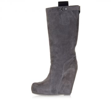 Leather WEDG EBIKER Boots Heel 13 cm