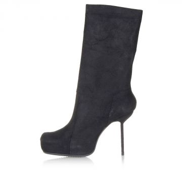 PULL ON Leather Boots Heel 10 cm