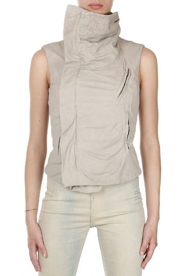 Giacca SLEEVELESS BIKER in Pelle