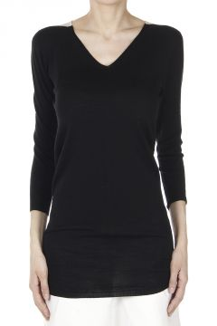 Virgin Wool SLEEVES V NECK Sweater