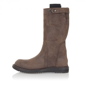 BIKER BOOT Dark Dust in Pelle