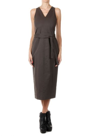 SL WORK DRESS Senza Maniche Dark Dust