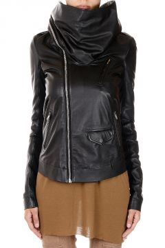 Leather COWLED STOOGES Jacket