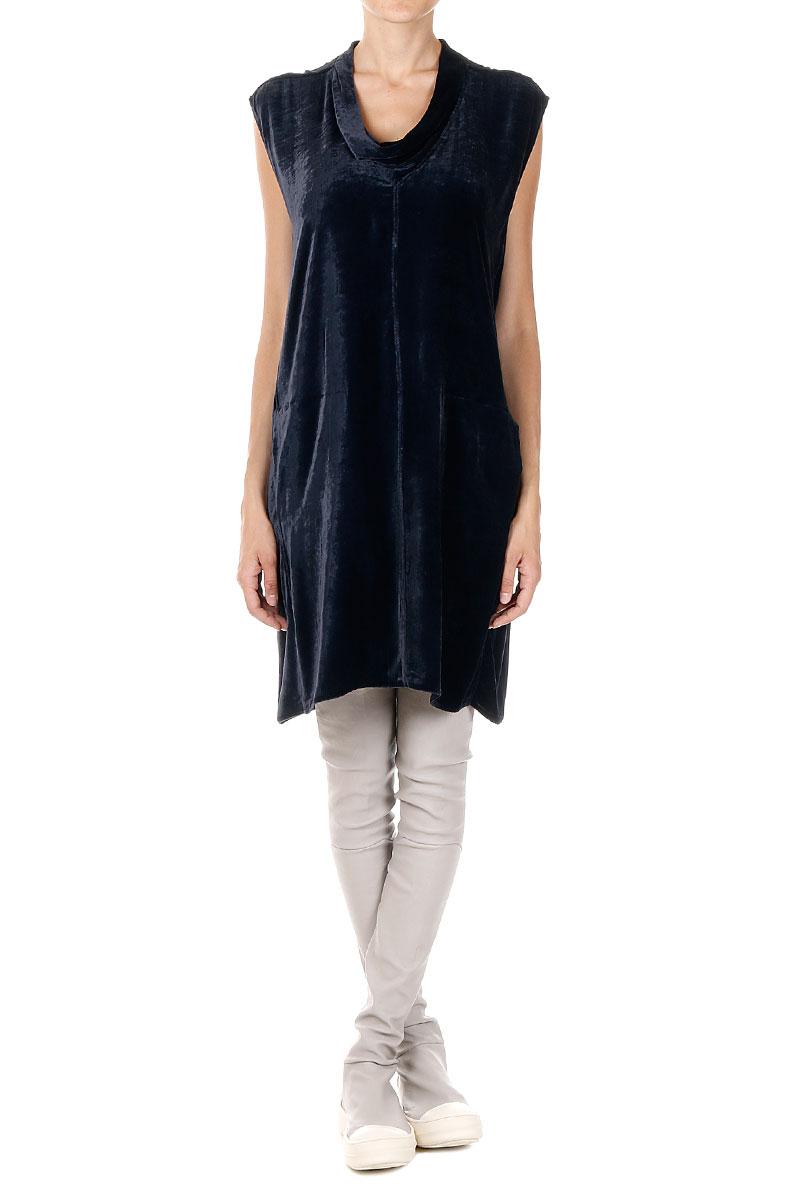 d799941a61 Rick Owens Women Chenille COWLED TUNIC Dress - Glamood Outlet