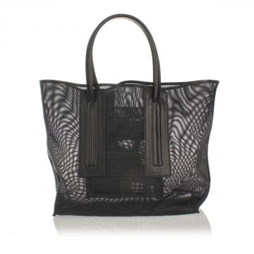 Shopping Bag with Leather Handles