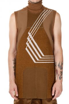 GEOPATCH TEE NO POCKETS High Neck Sleeveless Top