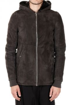 Hooded Leather Shearling
