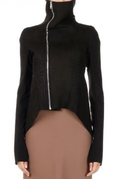 NASKA Leather and Fabric Biker Jacket