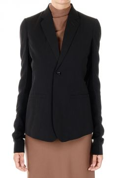 Mixed Virgin Wool Single Breasted Blazer
