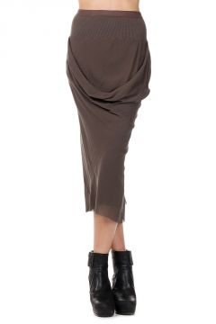 Silk DRAPPED Dark Dust Skirt