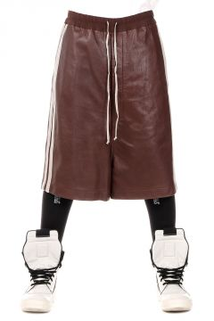 Leather BIG SHORTS Bermuda Blood