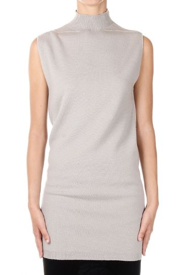 Maglione a collo Alto SLEEVELESS TURTLE in Cashmere Pearl