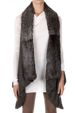 LILIES Sleeveless Jacket with Fur