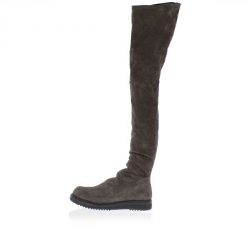 Stivale THIGHT HIGH PULL ON in Pelle Scamosciata