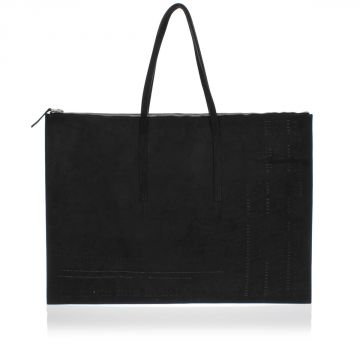 Leather Portfolio Bag with Studds