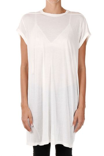 T-shirt TOP a Girocollo Milk