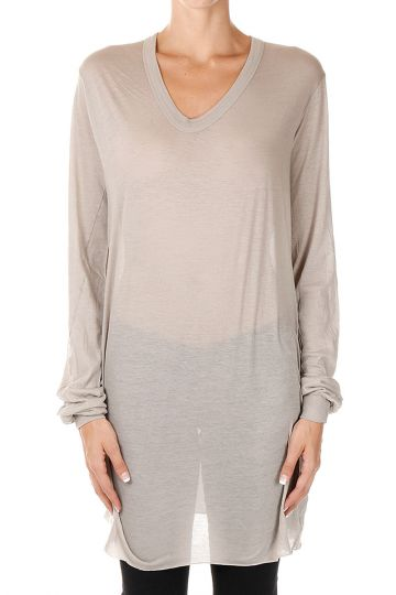 T-Shirt BASIC a Manica Lunga in Cotone Jersey