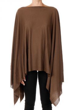Virgin Wool Poncho Faun