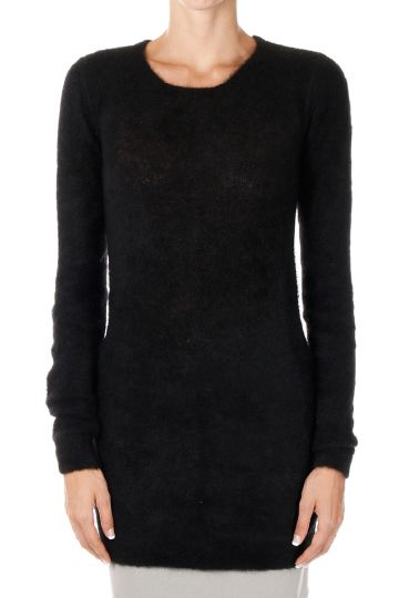 Mohair Wool Sweater with Round Neck