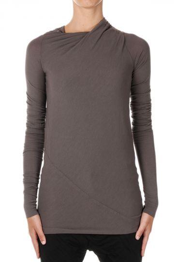 T-shirt Manica Lunga Misto Seta Dark Dust