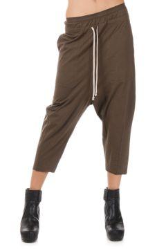 DRKSHDW Pantalone DRAWSTRING CROPPED in Cotone