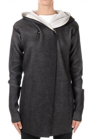 Virgin Wool HOODED BIKER Sweater