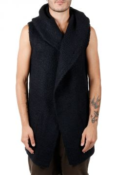 Silk Sleeveless Cardigan