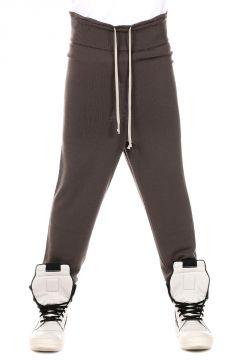 Pantaloni a Maglia in Lana Vergine Dark dust