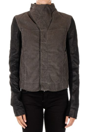 DRKSHDW Cotton Jacket with Sleeves in Leather