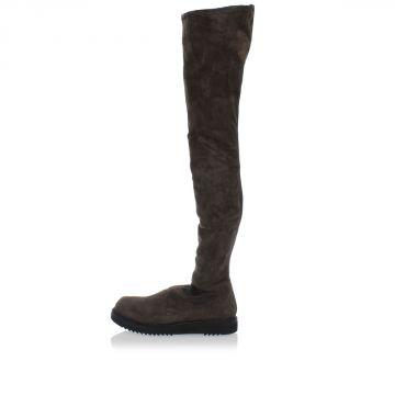 Stivali in Pelle Scamosciato