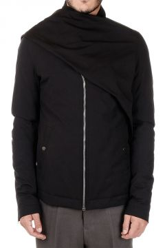 Padded Mixed Cotton Bomber Jacket