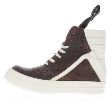 GEOBASKET Iguana Leather High Top Sneakers