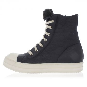 Leather Sneakers with Shearling