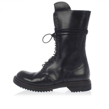 Low Leather Army Boots