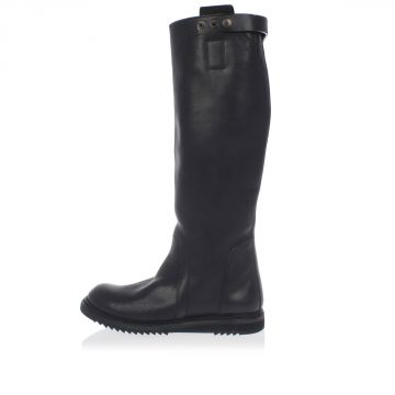 BIKER BOOTS Leather Knee Length Boots