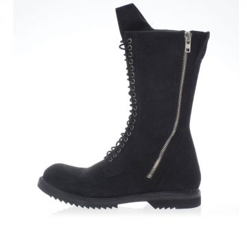 Stivale DB ZIP LACE UP BOOT ARMY in Pelle
