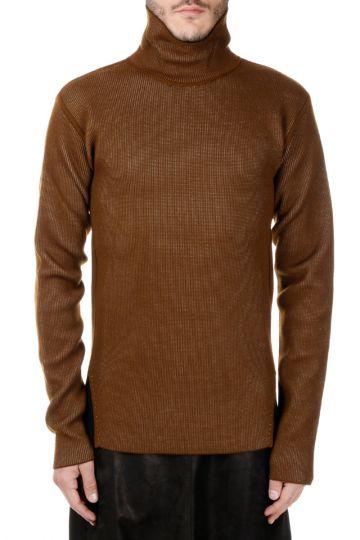 Virgin Wool Turtle Neck  Sweater Mustard