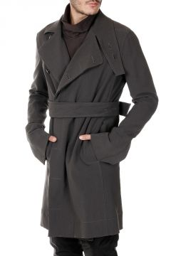 Virgin Wool blend Trench with belt