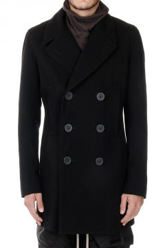 Pea Coat in Misto Lana Vergine