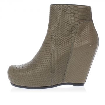Python Leather CLASSIC WEDGE Boots 13 cm