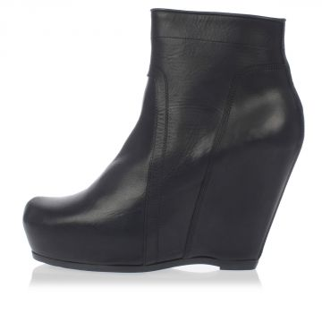 Leather Ankle Boots CLASSIC WEDGE 11 cm