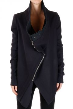 Cotton and Silk EXPLODER SATURN Coat with Asymmetric Cut