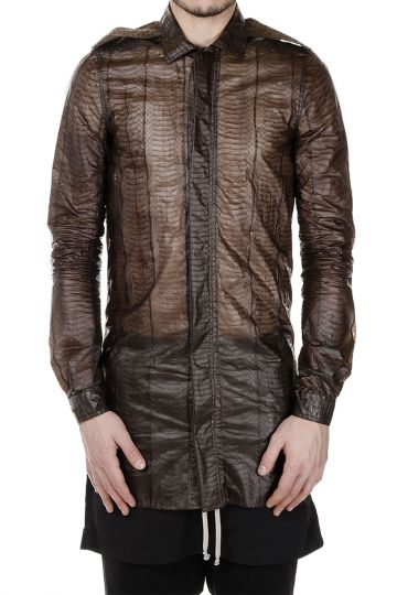 Snake Leather FIELD SEIRT Shirt DARKDUST