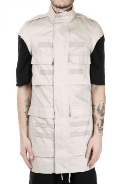 Parka SHORT SLEEVES RIBBED in Cotone