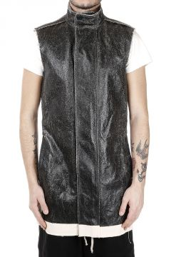 Parka SLEEVELESS RIBBED in Cotone