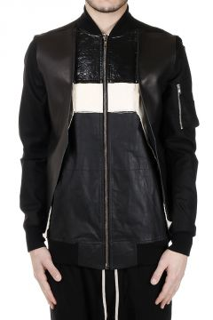 Leather Cotton FRACTURED FLIGHT Jacket