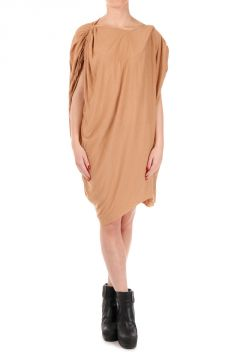 V neck DRAP Rose Dress