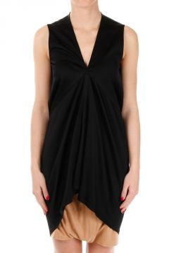 Tunica KITE TUNIC Blk in Cotone Stretch