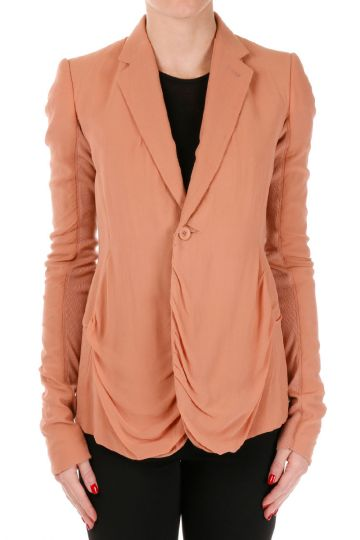 LONG BLAZER Silk Jacket
