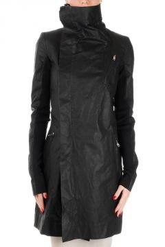 TRENCE BIKER Leather Trench